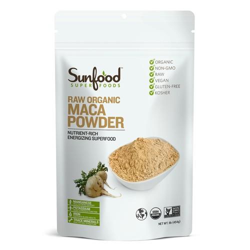 Sunfood, RAW オーガニック マカパウダー,454g