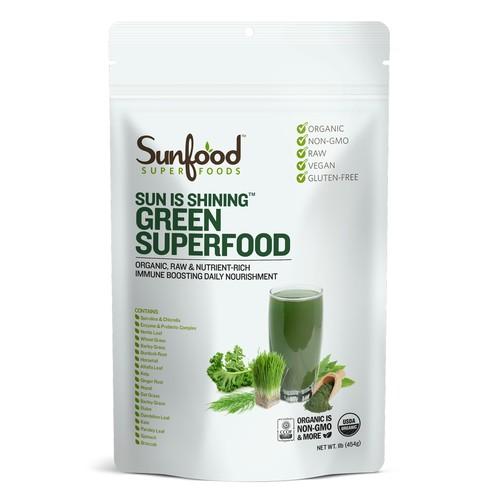 Sunfood,サンイズシャイニンググリーンスーパーフード SUN IS SHINING GREEN SUPERFOOD,454g