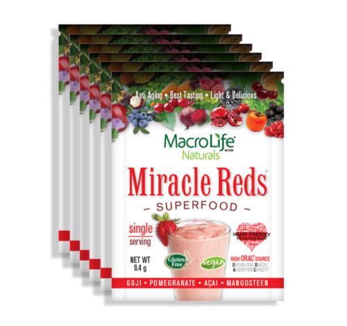 ミラクルレッド スーパーフード 12パック(MacroLife Naturals Miracle Red 12 Packet Box )
