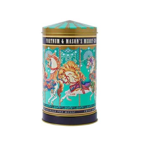イギリス限定??ミニメリーゴーランド缶ビスケット Mini Merry Go Round Musical Biscuit Tin, 220g
