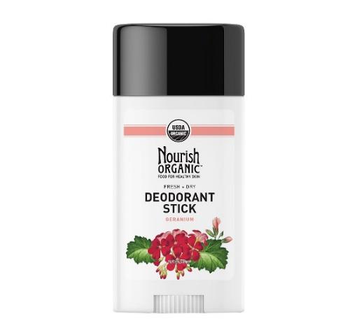 USDA認定 ノーリッシュオーガニック ゼラニウムデオドラント (Nourish Organic Deodorant Stick)