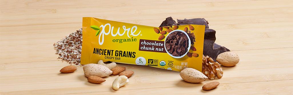 Pure Organic チョコレートチャンクナッツ ナッツバー 12本セット