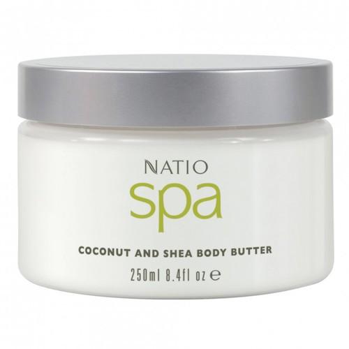 NATIO Spa ココナッツ&シアボディバター 250ml ボディケア