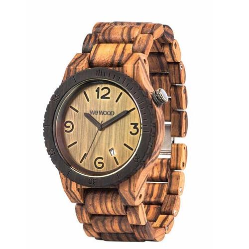 100%天然木製腕時計(男女兼用)/Alpha Zebrano
