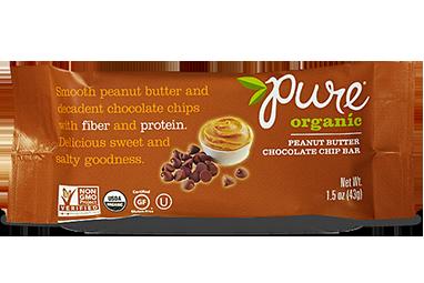 Pure Organic ピーナッツバターチョコレートチップ ナッツバー 1本