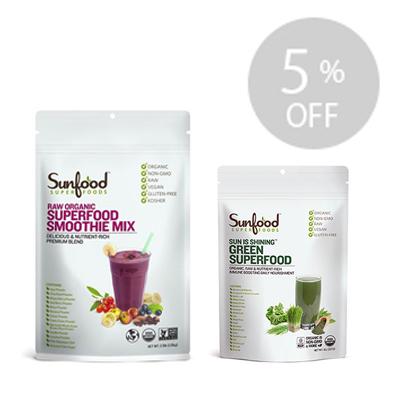 <5%OFF>ダイエットに!スムージーミックスとグリーンスーパーフードのセット
