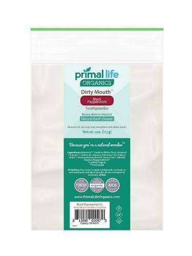 【全9種】プライムライフオーガニクス ナチュラル歯磨き粉 詰め替え用 113g(Primal Life Organics)