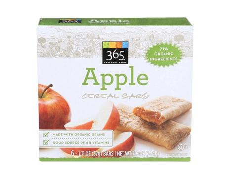 日本未発売 ホールフーズマーケット 365 アップル シリアルバー(Whole Foods Market Apple Cereal Bar)