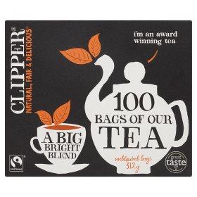 Clipper オーガニック ブライトブレンドティー 紅茶 80 ティーバッグ x 2 ボックスセット