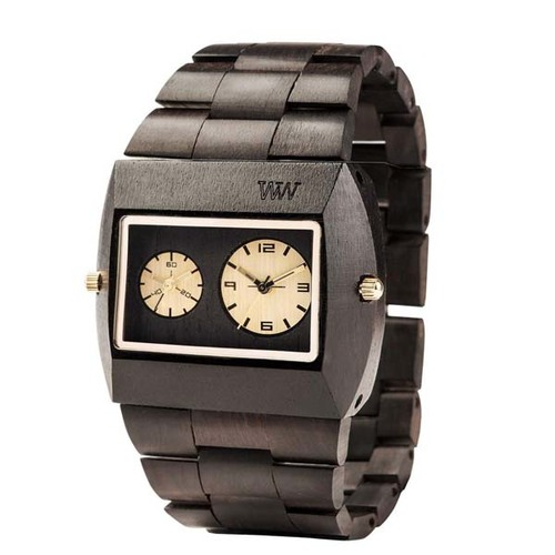 100%天然木製腕時計(男女兼用)/Jupiter BlackGold