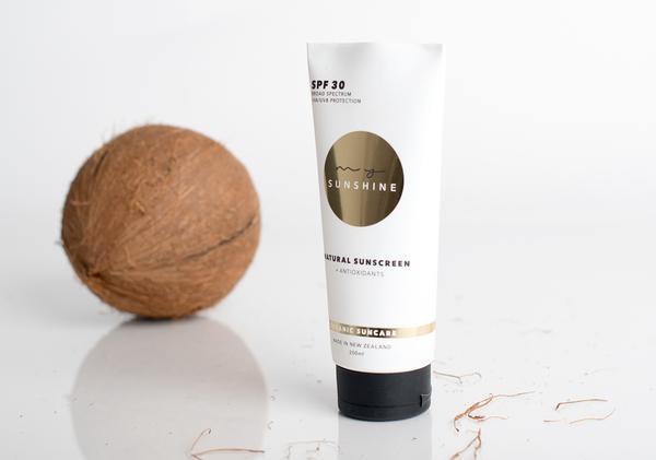3本まとめ買い 抗酸化物質入り SPF30 ナチュラル サンスクリーン 日焼け止め 200ml / Natural Sunscreen