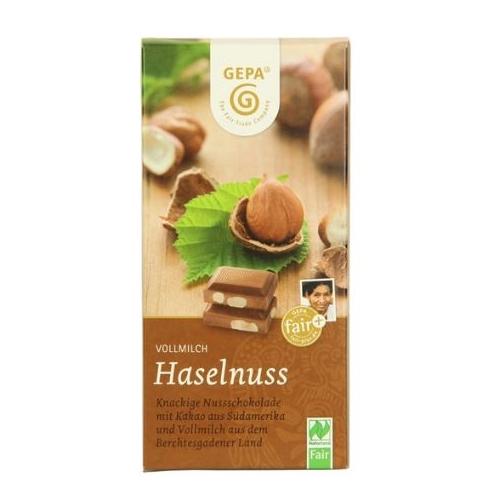 オーガニック ヘーゼルナッツミルクチョコレート