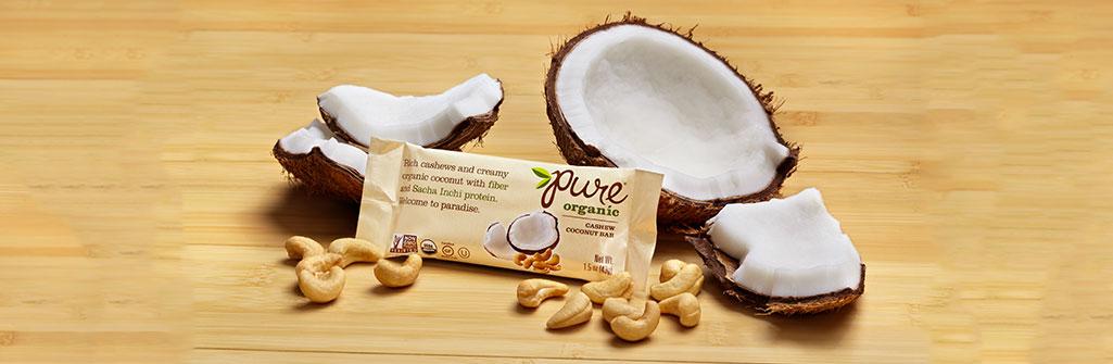 Pure Organic カシューココナッツ ナッツバー 12本セット