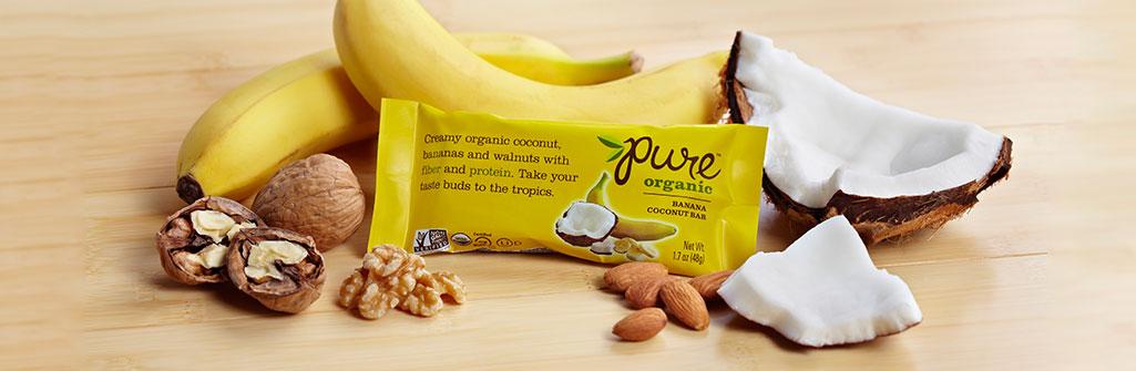 Pure Organic バナナココナッツ ナッツバー 12本セット