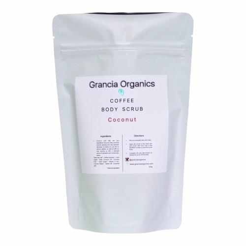 セルライト除去スクラブ♪コーヒー・ボディスクラブ/ ココナッツ【Grancia Organics グランシア オーガニクス】