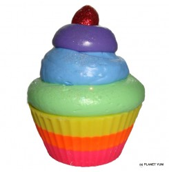 【非毒性天然石鹸】オーバー・ザ・レインボー・カップケーキ・ソープ110g Over the Rainbow Cupcake Soap