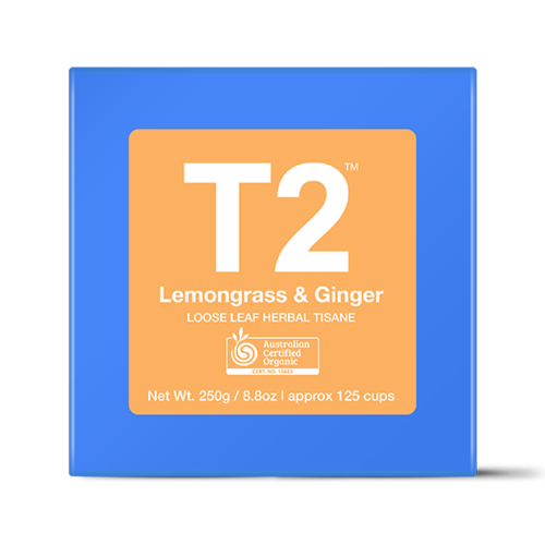 オーガニックレモングラス&ジンジャー*リーフ100g Organic Lemongrass & Ginger Loose Leaf Cube