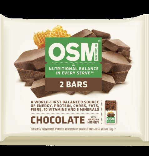 【食事替わりに!】チョコレート&マヌカハニー味バー 2本セット OSM(ワン・スクエア・ミール)