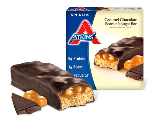 Atkins バー★キャラメルチョコレートピーナッツ 単品 44gx1本