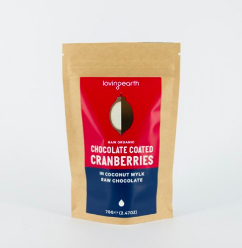 【 Loving earth】クランベリーチョコレート Chocolate Coated Cranberries 70g