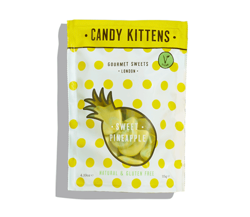 Candy Kittens パイナップル グルテンフリー、ナチュラルグミキャンディー