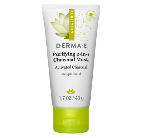 ダーマE 2イン1チャコールマスク (Derma E Purifying 2-in-1 Charcoal Mask)