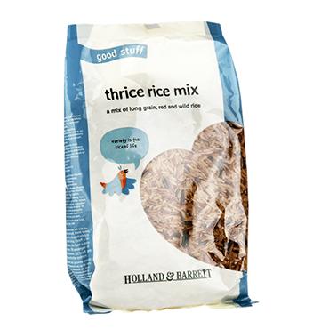 Holland & Barrett Thrice Rice Mix ロンググレイン、レッド、ワイルドライスミックス