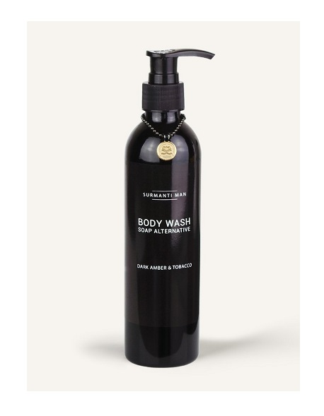 ボディウォッシュ 250ml / MAN DARK AMBER & TOBACCO BODY WASH - SOAP ALTERNATIVE