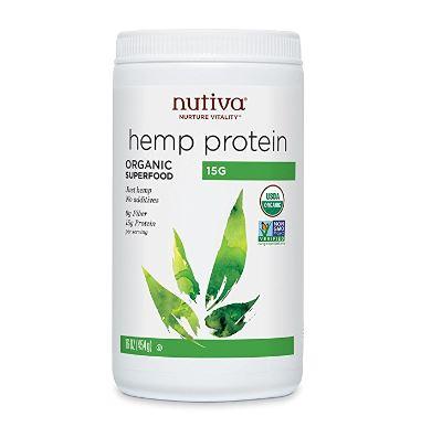 ヌティバ ヘンププロテインパウダー オーガニック 453g (Nutiva Hemp Protein Powder, Organic)