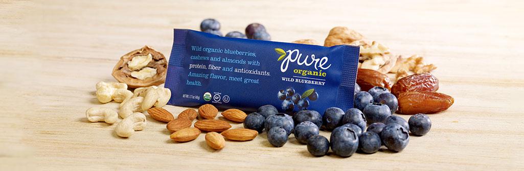 Pure Organic ワイルドブルーベリー ナッツバー144本セット