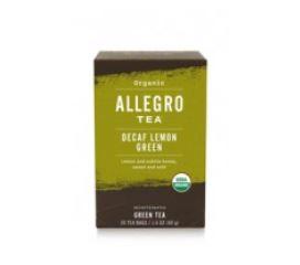 アレグロ デカフェ レモングリーンティー (Allegro DECAF LEMON GREEN)