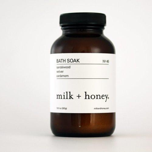 ミルク+ハニー Nº 46 バスソーク 入浴剤 283ml (milk + honey Bath Soak, Nº 46)