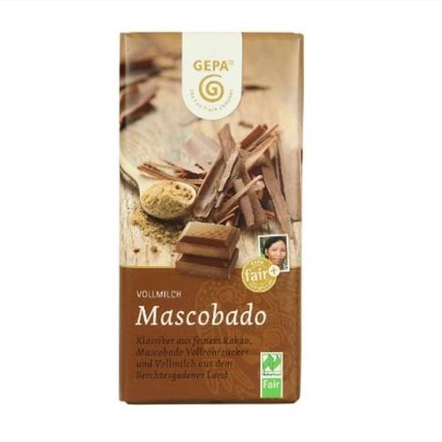オーガニック マスコバドミルクチョコレート