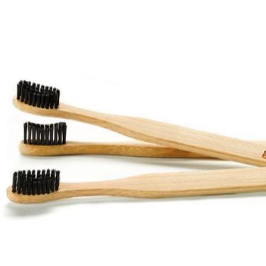 まとめ買い価格 竹製 活性炭配合 エコ 歯ブラシx3本