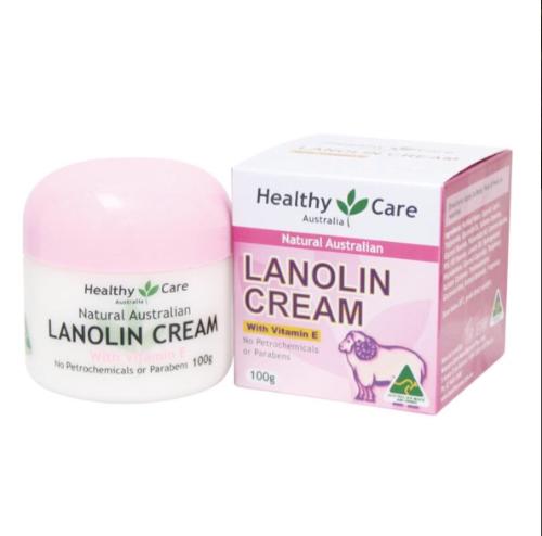 Healthy Care Natural Lanolin & Vitamin E Cream 100g